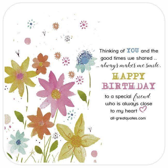Best 25 Happy birthday special friend ideas – Free Birthday Messages for Cards