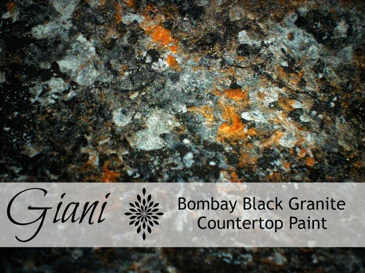 Countertop Paint Kit Black : Giani Granite Countertop Paint in Bombay Black - Applied to a 1920s ...