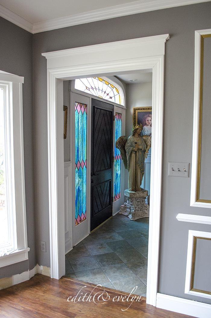 Living Room Update Edith Evelyn Door Frame Molding Door Molding Living Room Update