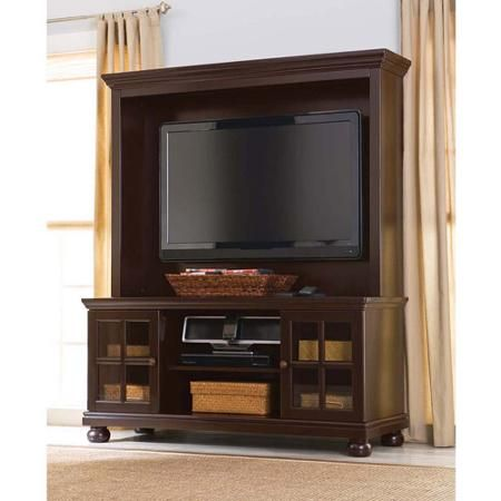 "Better Homes and Gardens Espresso TV Stand with Hutch, for TVs up to 50"" - Walmart.com"