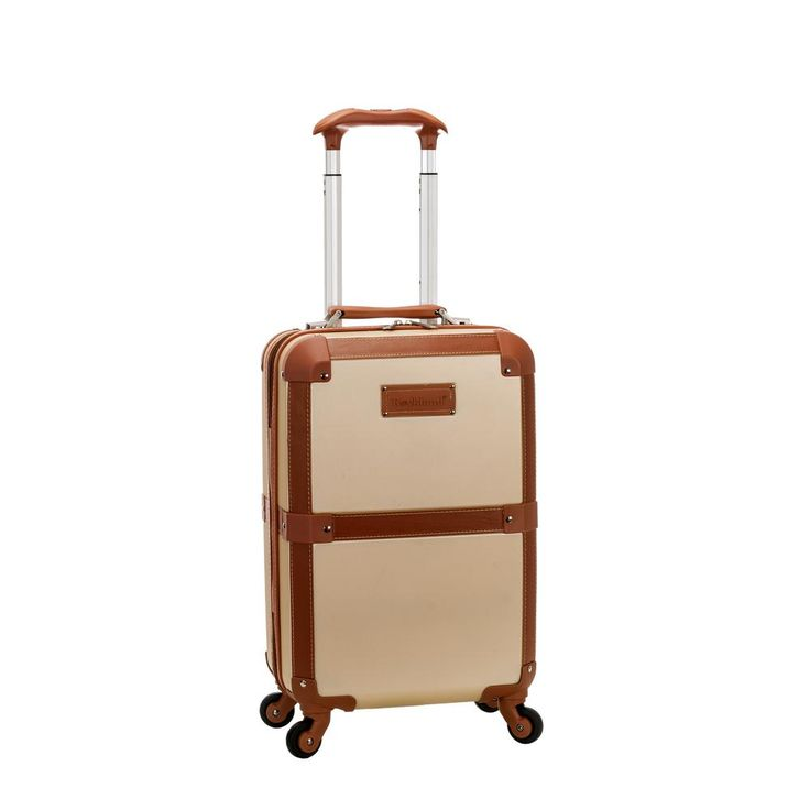 Champagne (Beige) Stage Coach 20 in. Rolling Trunk