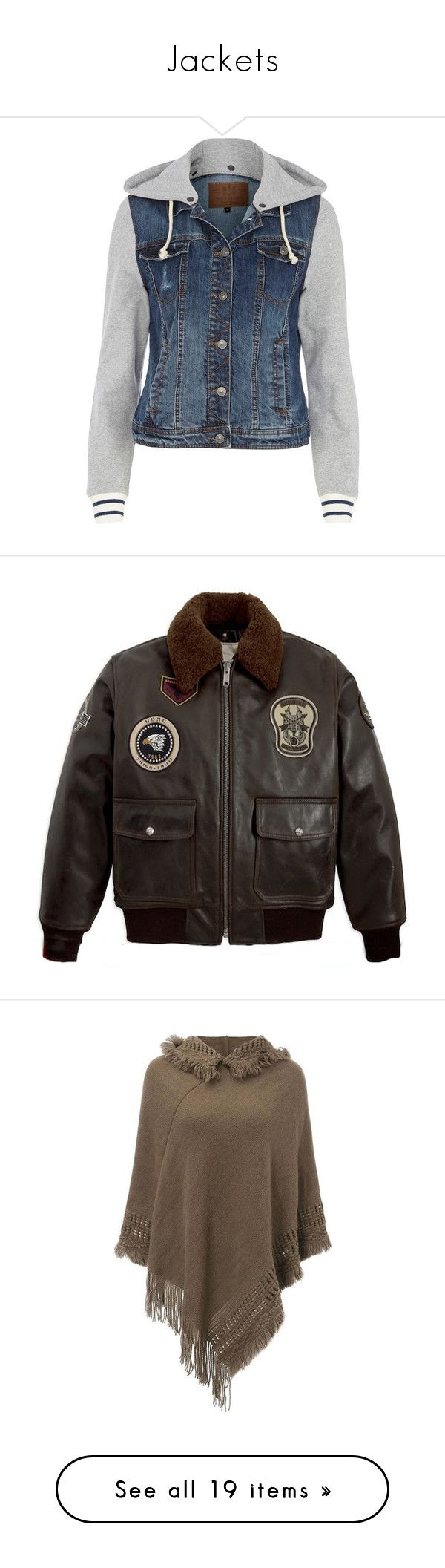 """""""Jackets"""" by shadowfang52 on Polyvore featuring outerwear, jackets, tops, coats, sale, hooded jacket, blue jackets, river island jackets, jersey jacket and blue jean jacket"""