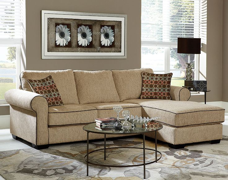 Radar Sand 2 PC. Sectional Sofa | Living Rooms | American ...
