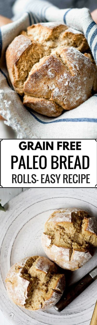 These Grain free bread rolls are paleo and delicious! Soft and warm on the inside and covered in a crunchy crust. This easy to make paleo…
