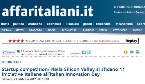 NextStyler attending Italian Innovation Day on affaritaliani.it