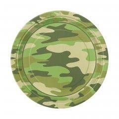 χάρτινα πιάτα Military