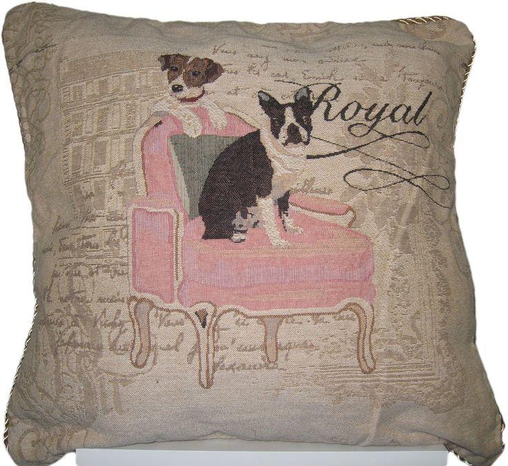 dada bedding royal dogs french bulldog beagle elegant square accent cushion cover 18
