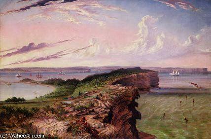 L entrée de North Head à Port Jackson de Thomas Baines (1820-1875, United Kingdom)