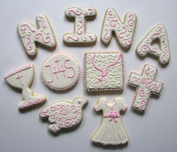 communion girl cookies