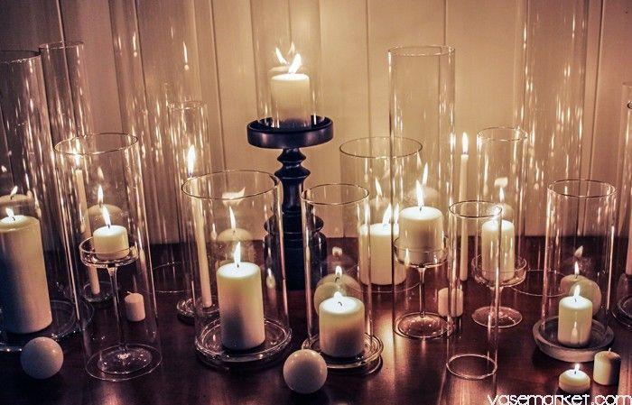 "Open End Hurricane Candle Shade H-10"" D-6"" - Glass Vases Wholesale | Vase Market"
