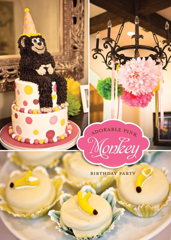 "Adorable ""Monkey Love"" Birthday PartyMonkeys Birthday, Birthday Parties, Monkeys Parties, 1St Birthday, First Birthday, Parties Ideas, Monkeys Theme, Baby Shower, Birthday Ideas"