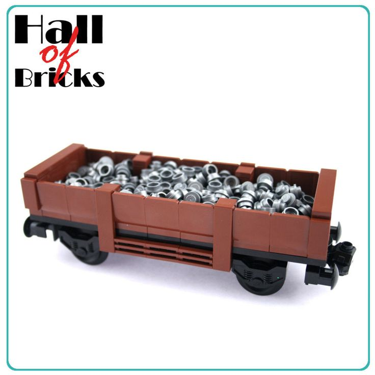 Hall of Bricks 3031 - Eisenbahn Güterwagen Waggon - Lego City Custom Set