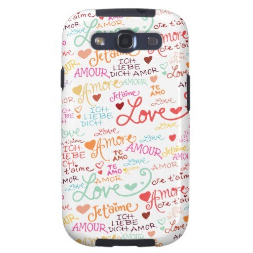 I Love You in Other Languages Samsung Galaxy S III Samsung Galaxy S3 Cover from Zazzle.com