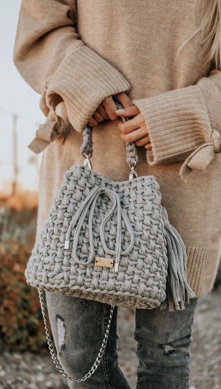 30+ Best And Creative Crochet Bag Patterns 2019 – Seite 20 von 39 – Womenselegance. com, #Bag…