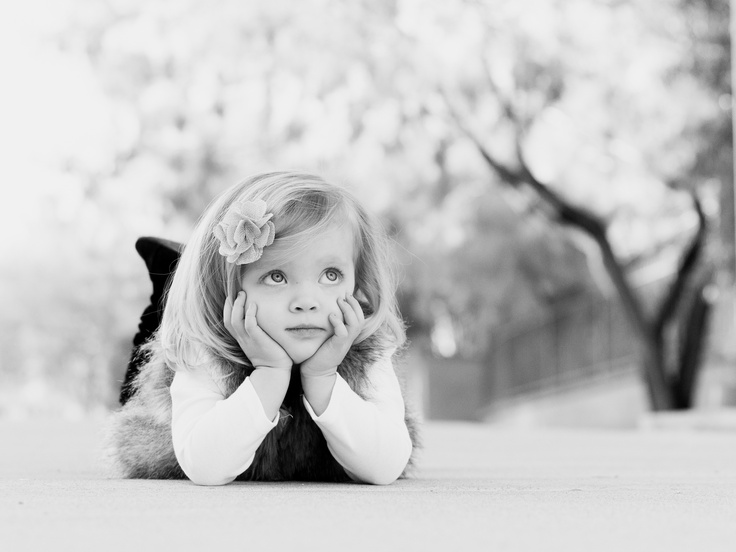 Adorable little girl pose.