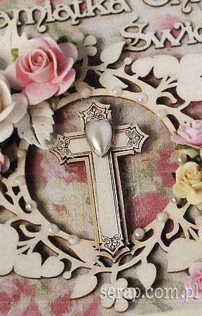 chipboard cross and brad heart  http://www.hurt.scrap.com.pl/ozdobne-krzyze-z-tekturki-7-szt-z-ramkami.html