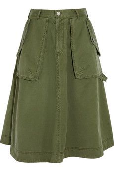 Marc by Marc Jacobs Flared cotton skirt   NET-A-PORTER