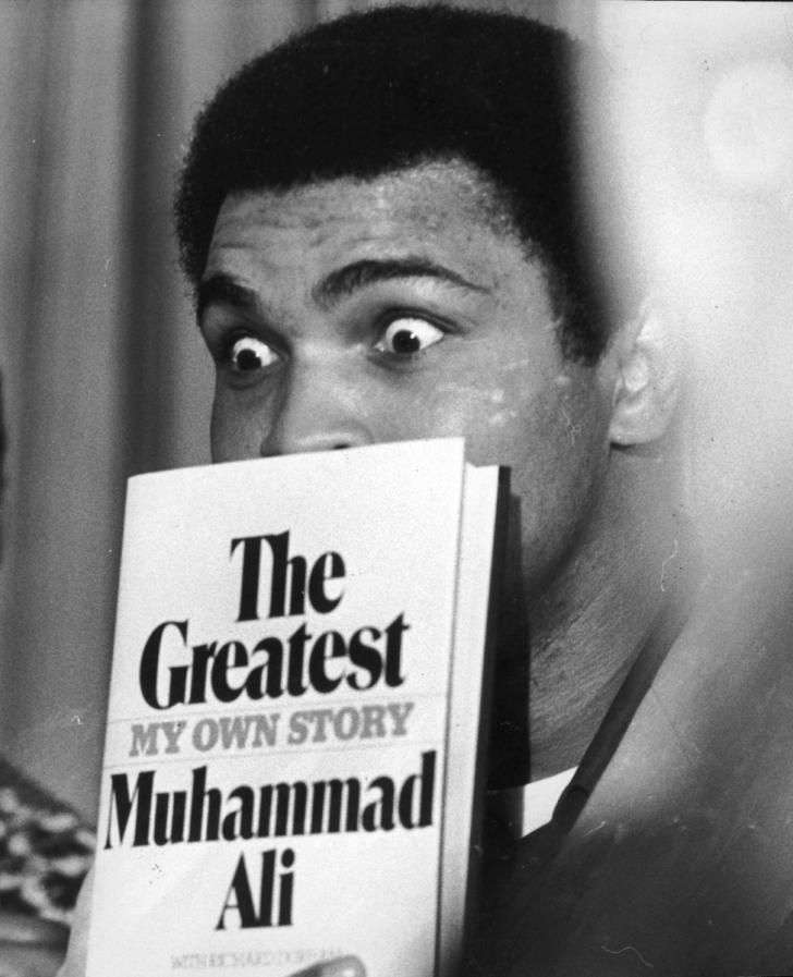 The Greatest: Muhammad Ali poses during a press conference in London on March 9…                                                                                                                                                                                 More