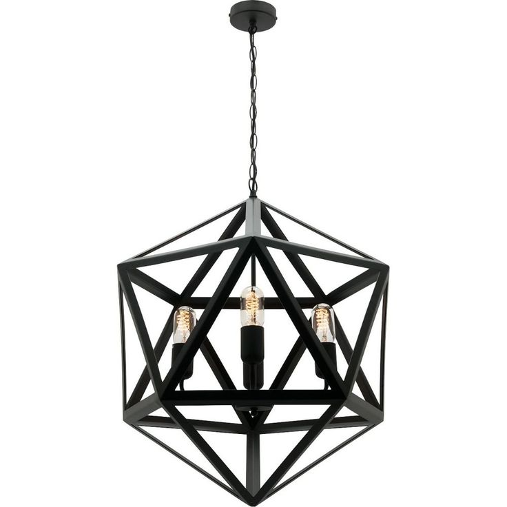 Davinci 4Lt PendantMP4724Matt Black 4Lt Metal Pendant.200cm Chain Suspension with Black Cord (adjustable).Suits E27 Max 60W.Also available in 1Lt Pendant