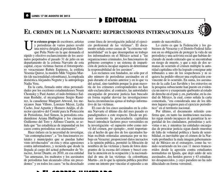 #ClippedOnIssuu from La Jornada, 08/17/2015