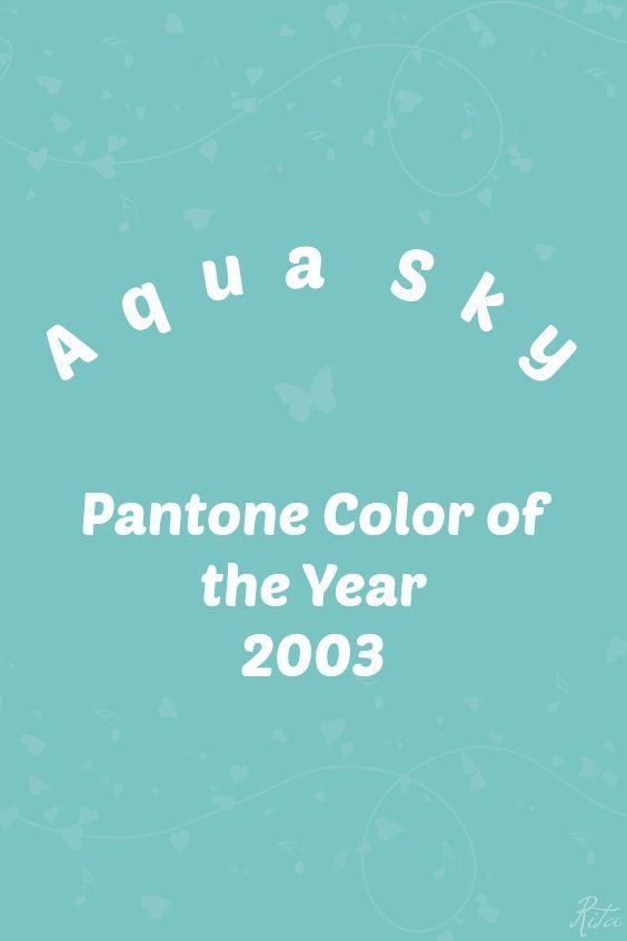 Pantone Aqua Sky / Hex 7BC4C4 | 2000 - 2018 | Pantone Color