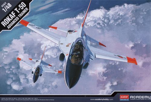 T-50, Advanced Trainer, South Korea Air Force. Academy, 1/48, injection, No.12231. Price: 23,39 GBP.