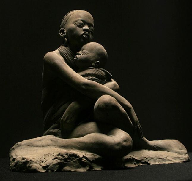 foto02.Cicero Dávila.escultor2  Esta obra foi feita por um escultor chamado Cícero D´avila.