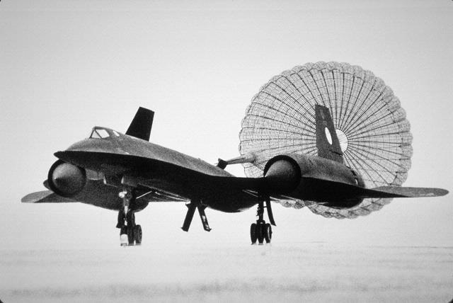 March 6, 1990: Lockheed SR-71 Blackbird landed at Washington Dulles International Airport after a record-setting final flight. Lt. Col. Ed Yeilding and Lt. Col. Joseph Vida flew this Lockheed SR-71 Blackbird from Los Angeles to Washington, DC in 1 hour 4 minutes 20 seconds, averaging 2,124 mph. Upon landing, the aircraft was turned over to the Smithsonian and is now on display.  Arrival video: http://s.si.edu/irB9A   Photo by Laurie Minor-Penland, Smithsonian National Air and Space Museum