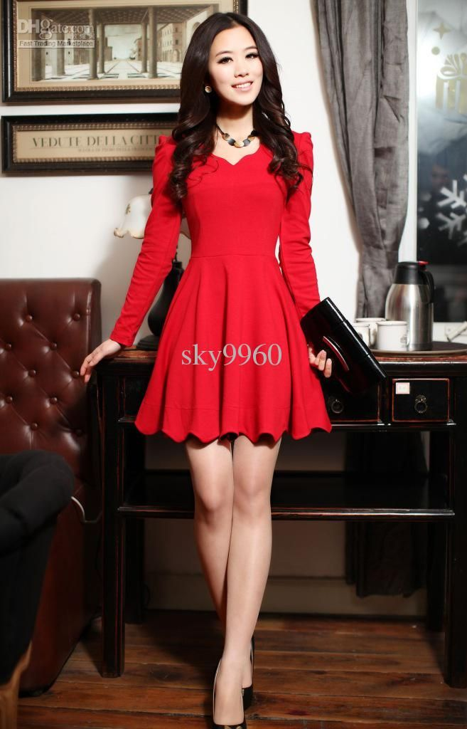 Wholesale Long Sleeved Dress - Buy Slim Bottoming Long-sleeved Dress, $28.99 | DHgate