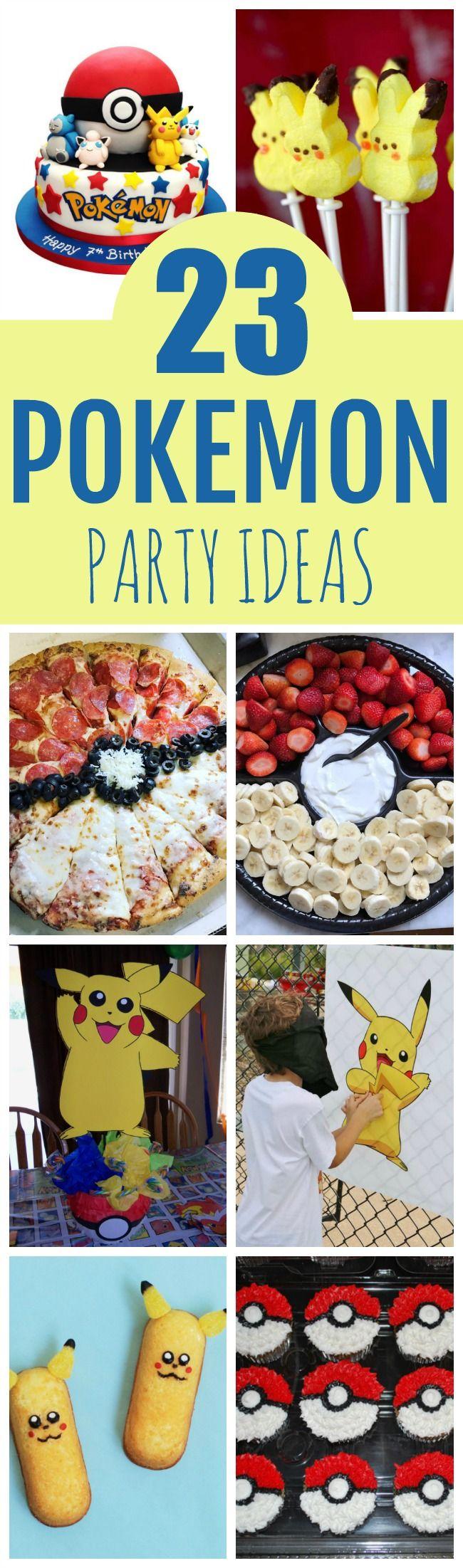 Creative Pokemon Birthday Party Ideas #pokemonbirthday #pokemonpartyideas #pokemonparty