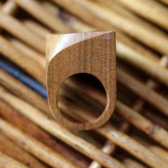 This wooden ring is nice as it is simplistic.