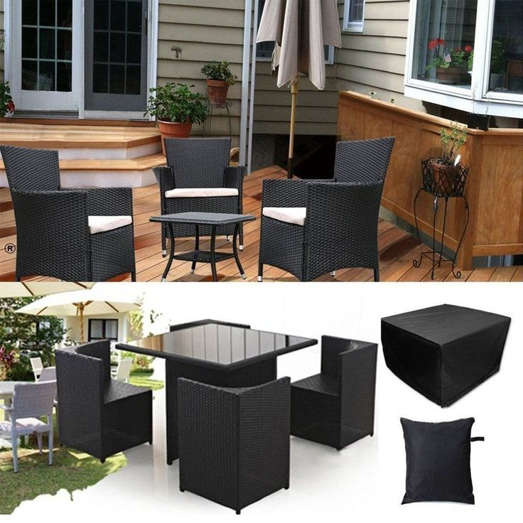 Heavy Duty Waterproof Rattan Cube Cover Home Garden Furniture Rain Protection
