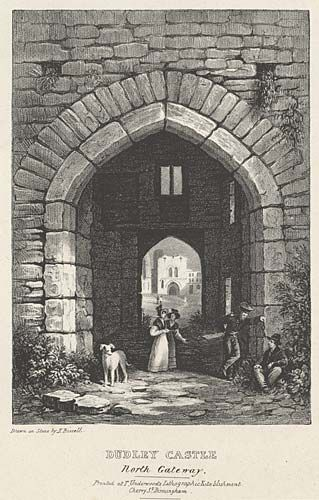 Dudley Castle. North Gateway mid 19th century