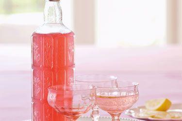 Rhubarb rose syrup