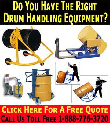 Drum Handling Equipment Can Save You Time & MoneyDrum Handling Equipment & Supplies.  Oil drums are one of the most useful storage systems available within the industrial environment, and have countless uses.   From being used to safely store volatile liquids such as oil and solvents through to being utilized as a waste bin, drums offer plenty of space, and can be reused endlessly provided that they are kept in the best possible condition.