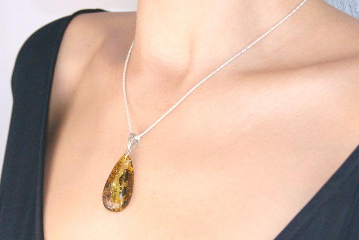 Baltic amber pendant ·unique piece· - ambarico.com