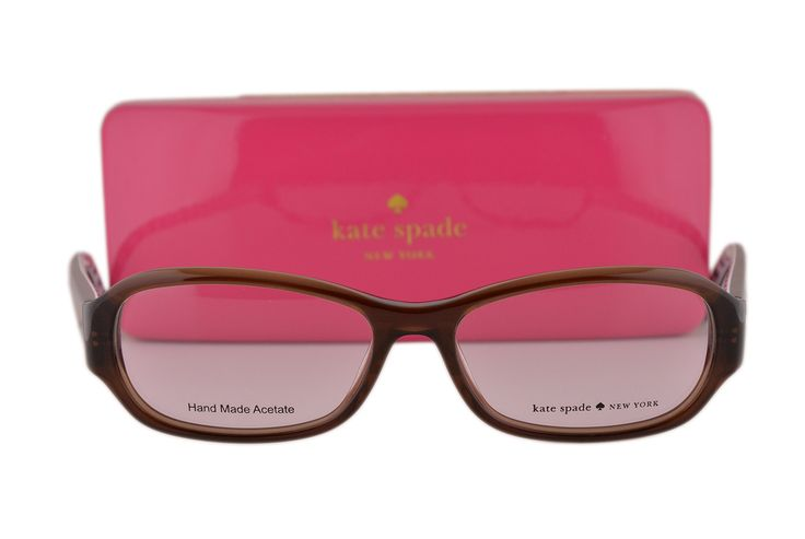 Kate Spade Eyeglasses Karly 51-15-135 Transparent Brown 02A3. Kate Spate Eyewear. Model: Karly. Color Code: 02A3 Transparent Brown w/DEMO lens. We handle prescription orders! Email us for details! Visit our storefront: www.amazon.com/shops/A1WUXX7TFM8VUI. Designer eyewear comes with an original case and cleaning cloth.