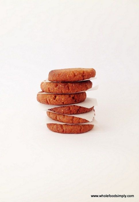 Ginger Cookies.  Quick, easy and delicious!  Free from gluten, grains, dairy, eggs and refined sugar.  Enjoy!
