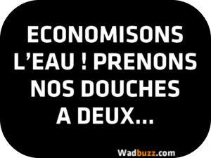 ECONOMISONS L'EAU ! PRENONS NOS DOUCHES A DEUX...