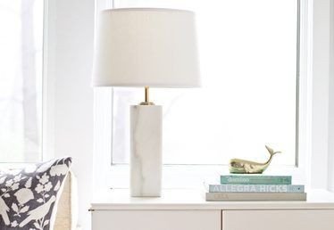 How to Make a DIY Marble Table Lamp From Marble Tiles