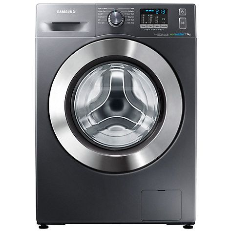 Buy Samsung WF70F5E2W4X ecobubble™ Freestanding Washing Machine, 7kg Load, A+++ Energy Rating, 1400rpm Spin, Graphite Online at johnlewis.com