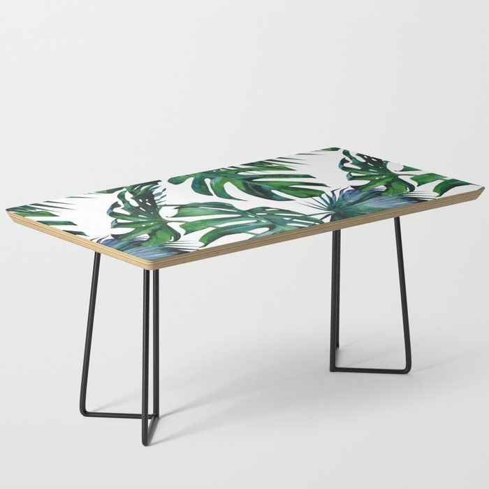 Tropical Palm Leaves Classic Coffee Table Tropicalcoffeetable