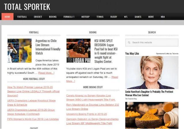 Totalsportek Totalsportek Live Streams 100 Live Best Blogging Sites Streaming Sport Outfits
