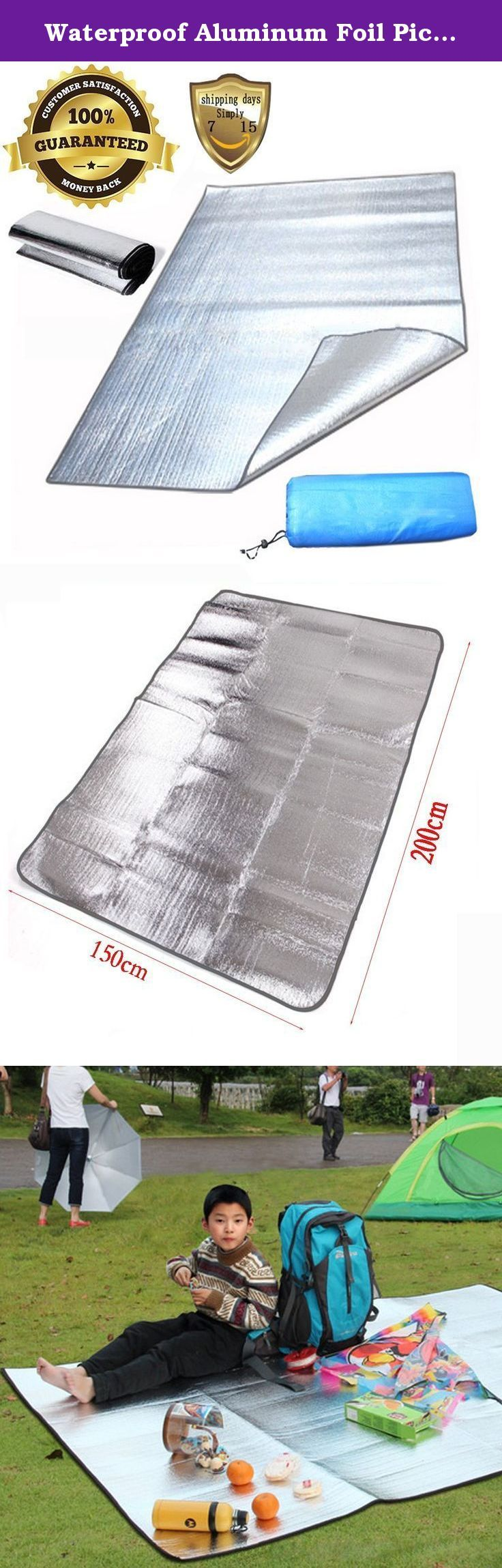 Waterproof Aluminum Foil Picnic Mat Beach Sleeping Mat Pad Waterproof Dampproof for Travel Camping Picnic Hiking Beach Sleeping Pad. Foil dampproof mat has a certain thickness, suitable for tents, picnic, camping, etc. Up or Folds Up, Non-Slip Surface, Cushioning for Added Support, Textured Surface, Latex-Free. Eco-friendly, biodegradable, recyclable, allergen, lead and PVC free 2M x 1.5M / 6.5Ft x 5 Ft (L*W). Light weight, easy to receive, can be folded up to receive in package, light…
