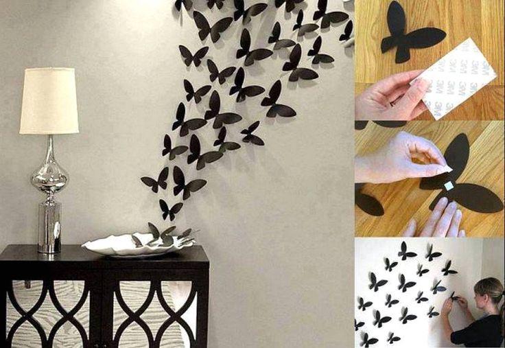 Cara Membuat Hiasan Dinding Kamar Kost Buatan Sendiri Dari Kertas Origami Berbentuk Kupu Kupu