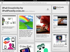 iPad Family is on Pinterest and uses the Pinterest App for iPad regularly.  It's great!