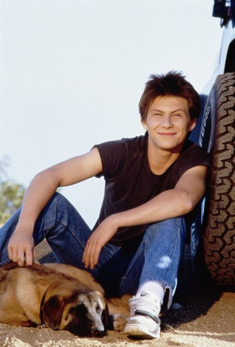 Christian Slater, back when he was young. And thin. And hot. I wish I was alive back in the 80s.