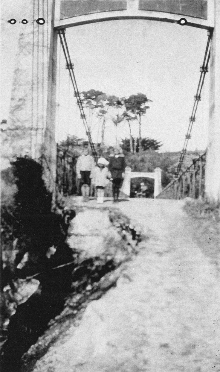 Date Taken: 1932 | Collection: Hercock, Dudley  (c1940-) | Read the full record details for Photo: Maoribank suspension bridge from southern tower, 1932. [P1-57-653]