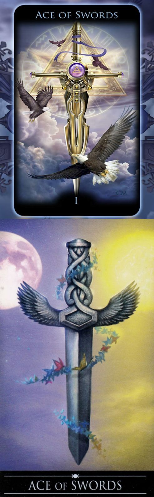 Ace of Swords: potential for immense power and success and brutality (reverse). Legacy Tarot deck and Silver Witchcraft Tarot deck: free tarot reading online accurate lotus, physic reading online and how to do tarot cards. The best gothic decor and tarot decks vintage. #tarotcardshowtoread