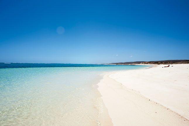 The beach at Sal Salis Ningaloo Reef, Australia.